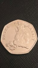 Peter Rabbit 50p Coin Eating Carrots Radish Rare 2018