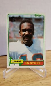 1981 Topps #63 Don Bessillieu 2015 topps Buyback Stamp Miami Dolphins MSC