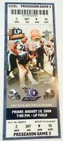 2008 Tennessee Titans Oakland Raiders NFL Football Ticket Stub
