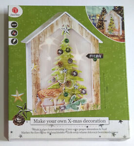 DecoTime Make your Own Christmas X-mas Decoration - MDF Framed Tree.