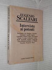 INTERVISTE AI POTENTI Eugenio Scalfari Mondadori 1979 Prima edizione libro di