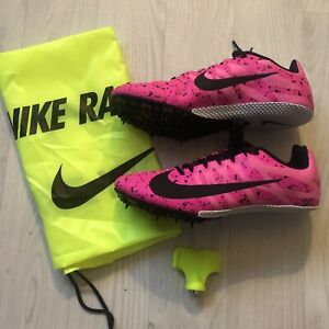 Nike Racing Zoom Rival S9 Womens Track Running Shoes, Pink Blast, New & Boxed