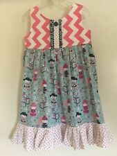 Etsy Custom Boutique Rare Japanese Little Dolls Print Dress Girls Size 4-5