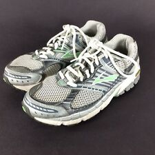 Brooks Ariel Road Running Shoes Gray White Green Women's Sz US 7 EU 38