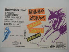 THE ROLLING STONES TICKET 11TH JULY 1990, CARDIFF ARMS PARK, WALES,  U.K. Used