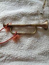 "Antique Brass Copper Bugle Horn 11"""