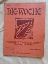 Die Woche 1914 Tirol Mona Lisa Daktyloskopie München Schäfflertanz Kiel Albanien