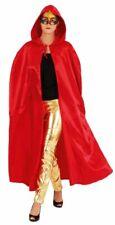 Satin Umhang mit Kapuze in rot zum Kostüm an Halloween Karneval Fasching