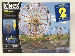 K'nex Double Ferris Wheel Imagine Build Play 903 Pieces Incomplete 2 Motors