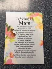 Mum Waterproof Memorial Grave Card Graveside Remembrance Poem Grave Keepsake