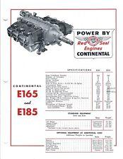 Aircraft Engine Brochure - Continental Motors - E165 E185 - c1953 (B515)