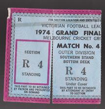 1974 Grand Final Used Ticket Richmond vs North Melbourne Tigers won