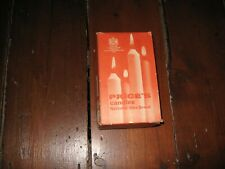 VINTAGE BOX OF PRICES WHITE CANDLES PARTLY FULL 6 CANDLES UNUSED