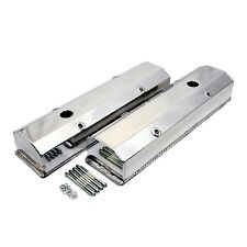 Polished Fabricated Aluminum Long Bolt Valve Covers - SBC Chevy 283 327 350 400