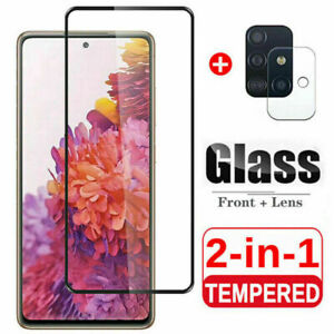For iPhone 12 Pro Max Samsung HD Tempered Glass Screen Protector+Lens Protector