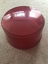 Cloudy Vintage Red Beacon Dome Lens Police Fire for Rotating Light Federal F3