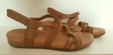 FITFLOP Tan Leather Gladiator Studded Low Wedge Sandals Style: 118-017 - 5 UK