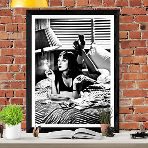 Pulp Fiction Mia Wallace Classic Movie Poster Print