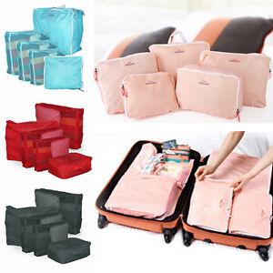 5pcs Korea Travel Storage Luggage Suitcase Tidy Organizer Clothes Bag Case