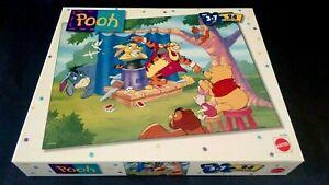 Vtg Disney Winnie the Pooh Puzzle Pooh Tigger Piglet Eeyore 24Pc Mattel 1998 NEW
