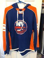 New York Islanders Reebok Hoodie Sweatshirt Size Small