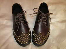 Dr. Doc Martens Smooth Brown Leather EDISON Copper Stud Oxford