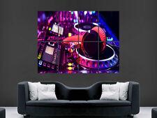 DJ MUSIC HEADPHONES PIONEER CDJ CLUBBING NIGHTCLUB  GIANT POSTER PRINT ART
