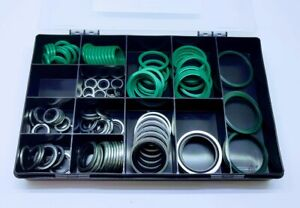 110 Pce HYDRAULIC SAE FLANGE SEAL & IMPERIAL DOWTY BONDED WASHER KIT PARTS BOX