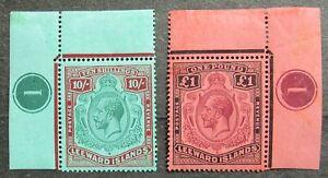 Leeward Islands 1921/32 King George V, Mi #78-79 CV=EUR760 MNH