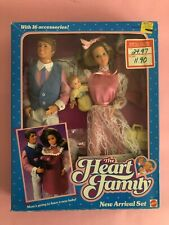 Barbie THE HEART FAMILY NEW ARRIVAL #2415 SET NRFB MADE IN TAIWAN 1985