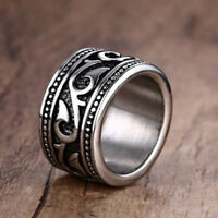 Black Silvering Celtic Dragon Stainless steel Ring Mens Jewelry men's SZ 7-12#