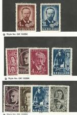 Bulgaria, Postage Stamp, #722-3, 728-30, 733 Mint LH, 729, 732-34 Used, 1951