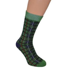 Scottish Tartan Mackenzie Design Woven Socks UK 7.5-12 (Green) X6S174-Large