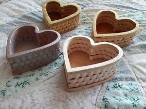 Assorted wooden boxes - heart shape joblot