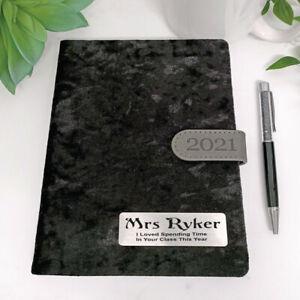 Personalised 2021 Teacher Diary A5 DTP - Black - Personalised Custom Gift