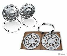 "22.5"" Swedish Style Stainless Steel front + rear wheel trim Covers Camion Lorry"