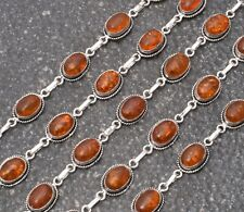 13.5Gm Baltic Amber Ethnic Jewelry Handmade Sterling Silver Plated 5pcs Bracelet