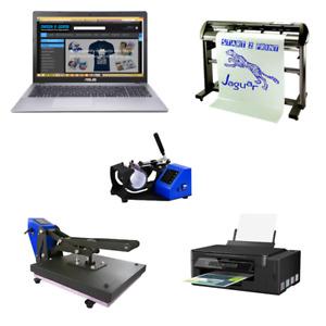 Print Business Heat Press Sublimation Printer Vinyl Cutter Work From Home eBay