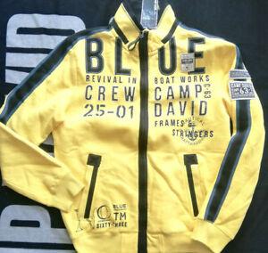 Camp David Sweatjacke yellow / ocean green Jacke L XL XXL XXXL 3XL Neu NP 119,95