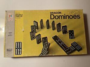 Vintage 1970 Milton Bradley Wooden Halsam Double Twelve Dragon Dominoes 4133