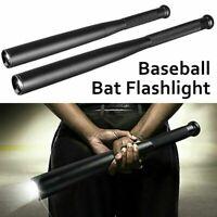 Portable Outdoor Black Baton LED Flashlight Baseball Bat Torch Light 3 Modes CN