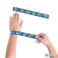 12 Mermaid Slap Bracelets Girls Birthday Party Favors Toys Jewelry