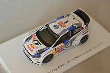 Spark - VOLKSWAGEN Polo R VW Motorsport n°9 7ème Monte Carlo 2014 Mikkelse 1/43