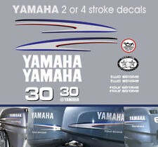 YAMAHA 30hp 2 stroke and 4 stroke outboard decals