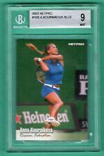 2003 NETPRO #10B Anna Kournikova SP BLUE DRESS ROOKIE RC BGS 9 MINT CENTERED