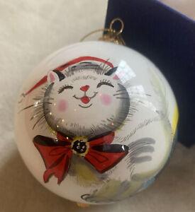 Adorable Pier One Hand Painted Li Bien Ornament Cat Fireplace Christmas 2017