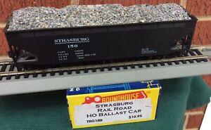 ROUNDHOUSE CUSTOM HO STRASBURG RAILROAD 40' BALLAST CAR 150 w/ load KD's