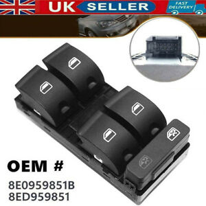 ELECTRIC POWER WINDOW CONTROL SWITCH DRIVER SIDE FOR AUDI A4 B6 B7 SEAT EXEO