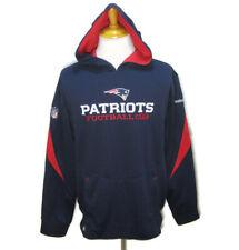 NEW ENGLAND PATRIOTS Mens (Size Medium) Blue Hoodie Hooded Sweatshirt Reebok NFL