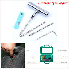 Auto Car Tyre Repair Kit Tubeless Tire Wheel Puncture Hand Tools Needle Rasp Set